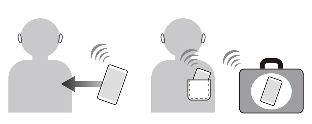 端末機器の距離を近づける/ウォークマンやスマートフォンなどの位置を変更する